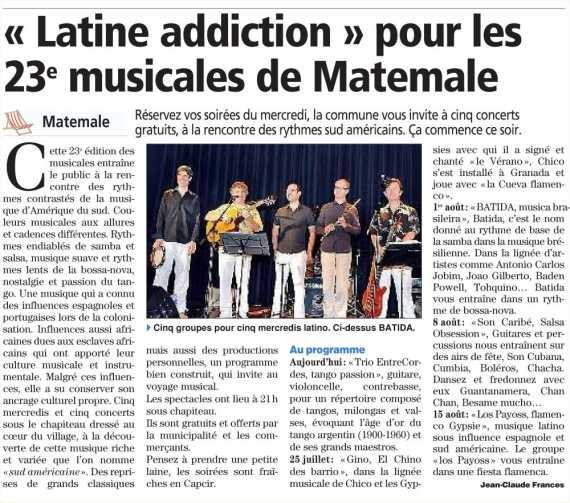 le groupe Batida � Matemale